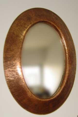 Oval Copper Mirror