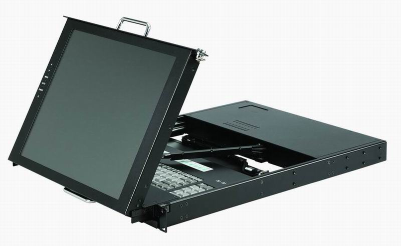 1U, Dual-rails Monitor Keyboard KVM Drawer (1U, Dual-рельс монитора клавиатуры KVM Drawer)