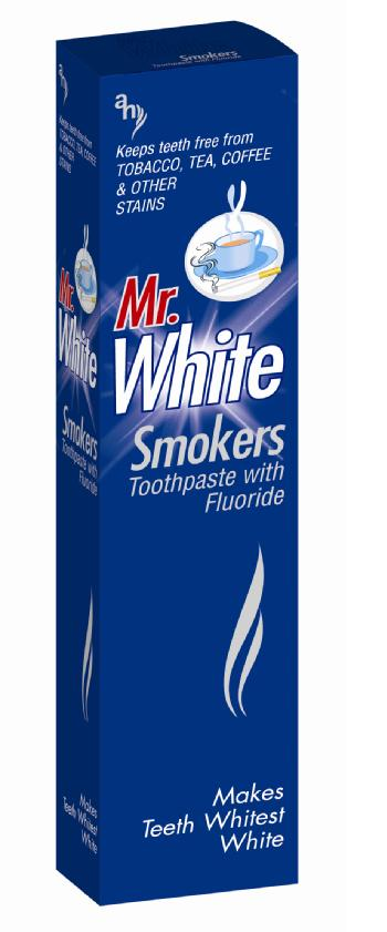 Mr White Smokers Toothpaste (M. fumeurs pâte dentifrice blanche)