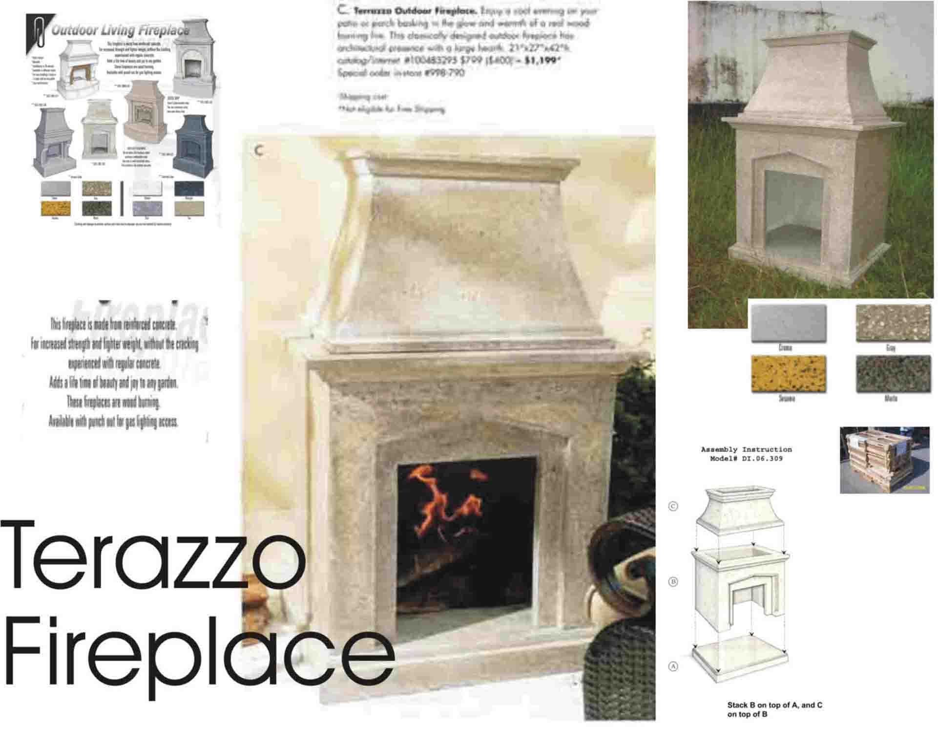 Terazzo Fireplace (Terazzo камин)
