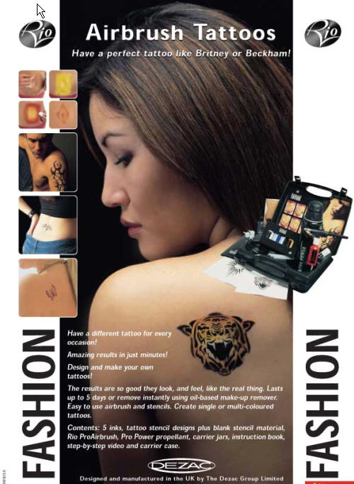The rio airbrush tattoo kit includes everything necessary to create