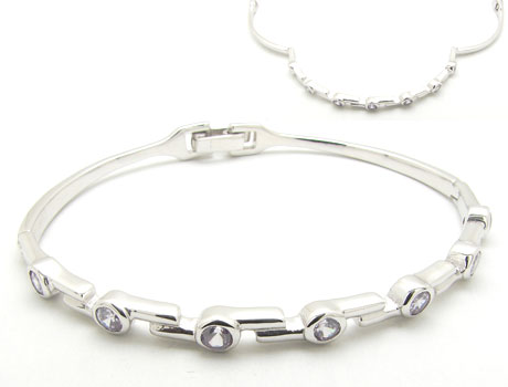 Silber Scharnier Bangle (Silber Scharnier Bangle)