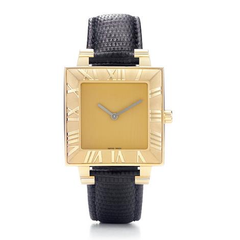 Square Watch, Large, 18k Gold (Квадратные часы, большая, 18-каратного золота)