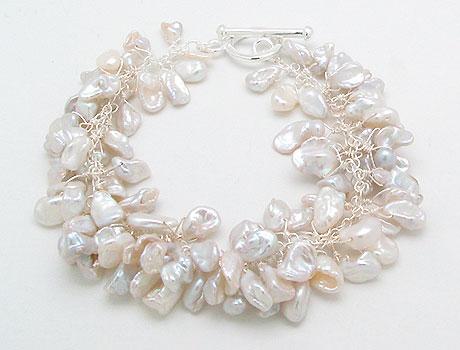 Fresh Water Pearl Bracelet (Süßwasser Perlen Armband)