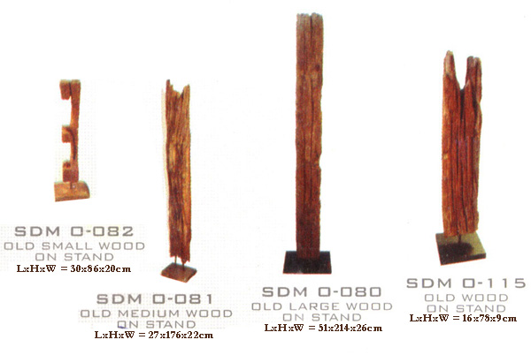 Recycled Wooden Pole (Recycled Holzstab)