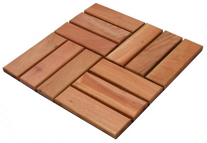 River Red Gum Floor Tile, Short Slats (Река потница напольной плитки, короткая планка)