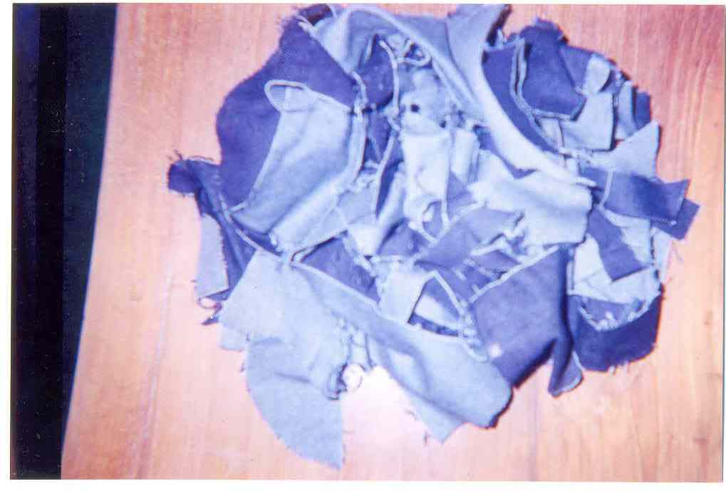 100% Cotton Denim Clips (Blue & Black Color) (100% Cotton Denim Clips (Blue & Black Color))