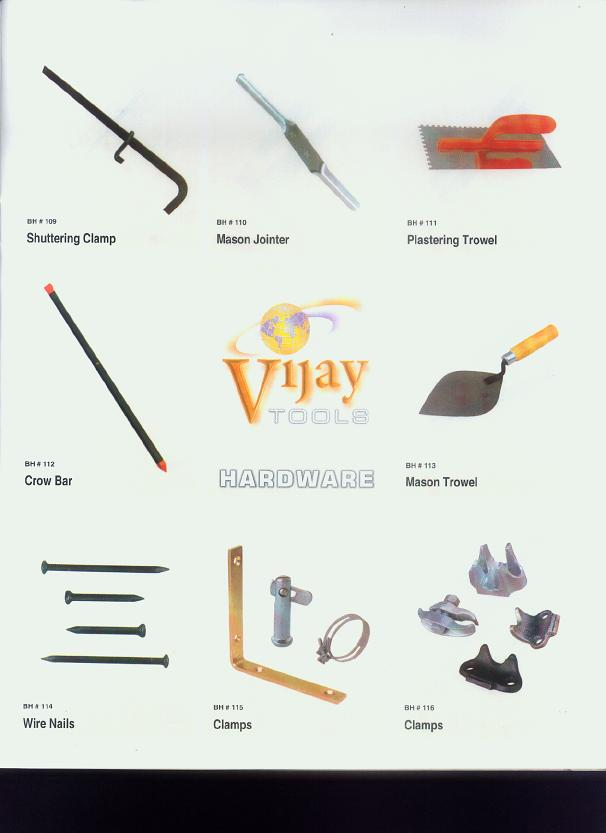 Steel Hardware Like Trowels, Clamps