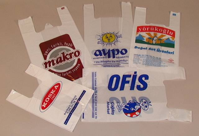 T-Shirt (Vest) Bags With Print ( T-Shirt (Vest) Bags With Print)