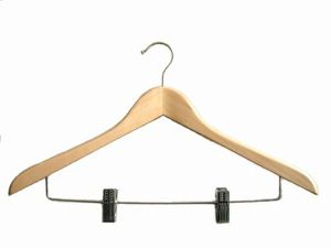 Wooden Hanger With Clips (Деревянные плечики с зажимами)