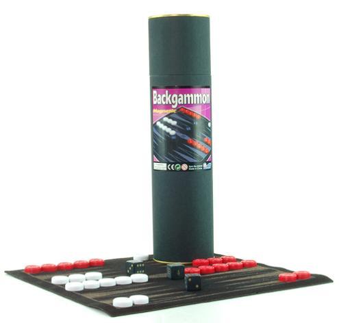 Magnetic Backgammon In Paper Tube (Магнитные нарды в бумажную трубку)