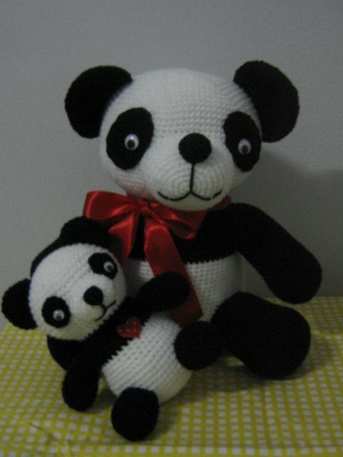 Panda Toy (Panda Toy).  Hand-Crochet Dolls (Рука-вязание крючком куклы)
