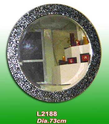 Round Lacquer Mirror