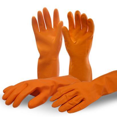 Оранжевый Промышленные резиновые перчатки.  Heavy Duty & Light Duty...