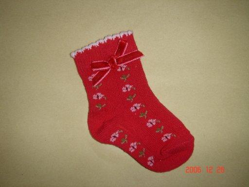 Intarsia Flower Sock With Velvet Bow (Интарсия Цветочная носок с Velvet Bow)