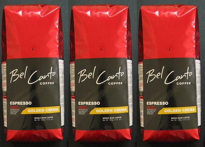 Bel Canto-Espresso Golden Crema (Whole Bean 500g) (Bel Canto-эспрессо золотой Крема (в зернах 500 г))