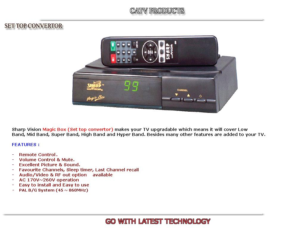 TV Tuner Box-CATV Converter (TV Tuner Box-CATV Converter)
