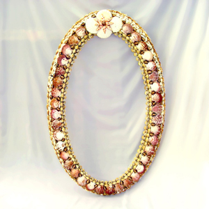 Mirror Shell Inlaid Oval Frame (Зеркало Shell инкрустированные овальной рамке)