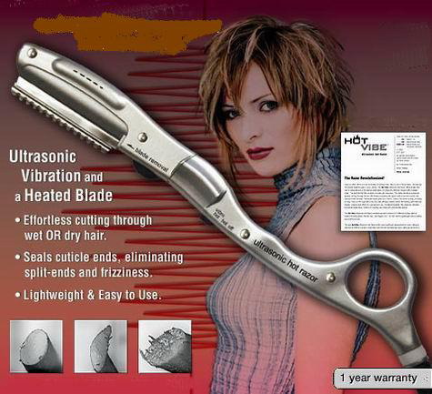 Ultrasonic Vibration and Heated Hair Blade