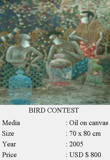 Bird Contest Canvas Painting