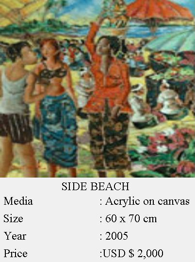 Side Beach Canvas Painting (Side Beach Canvas Painting)
