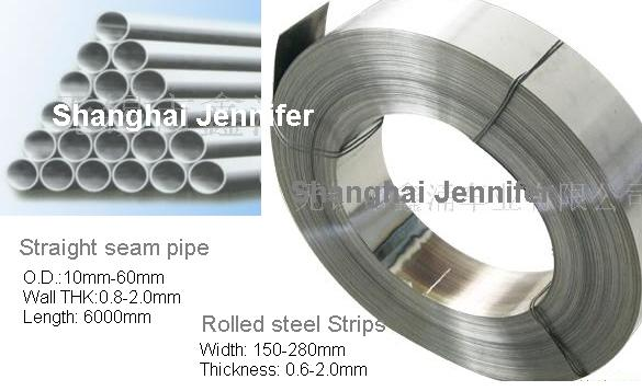 Steel Straight Seam Pipe, Rolled Strip