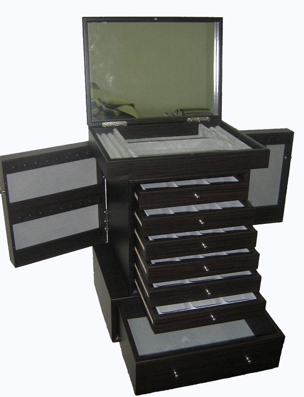Jewellery Box With Mirror & Multi-Compartments (Ювелирные изделия Box с зеркалом & Multi-КУПЕ)