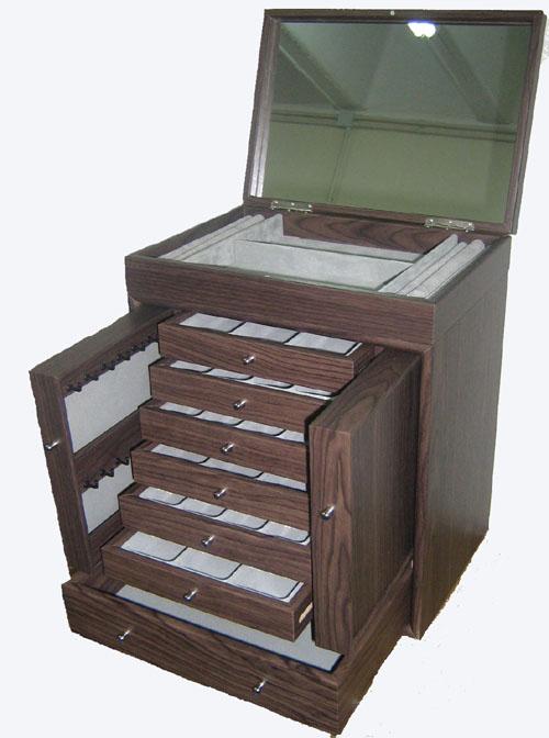 Jewellery Box with Mirror & Multi-Drawers (Ювелирные изделия Коробка с Зеркало & Multi-ящики)