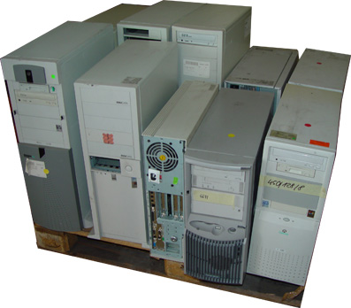 1 Pallet PII And PIII Mixed Computers (1 Palette PII und PIII Mixed Computers)