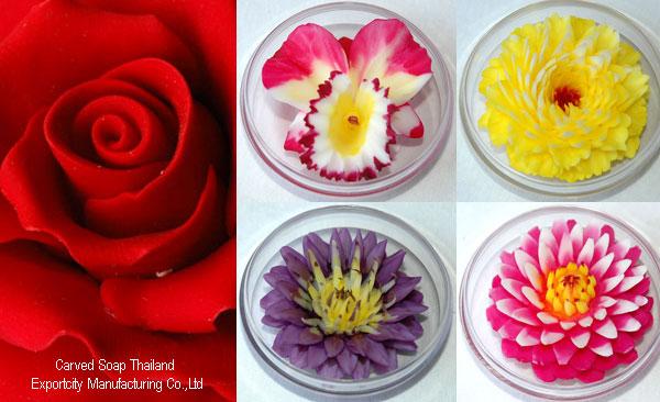 Carved Soap, Rose, Orchid, Lotus, Carnation (Резной мыло, роза, орхидея, лотос, гвоздика)