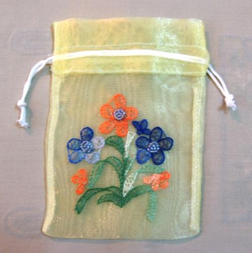 Embroidery Pouch, Organza Pouch, Gift Pouch, Promotion Pouch