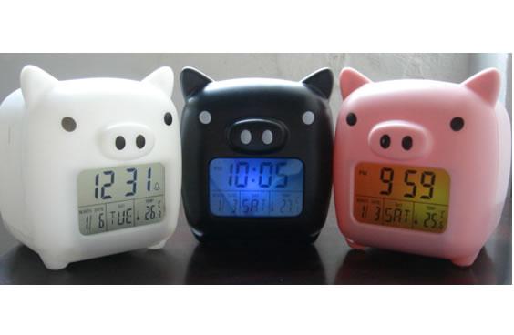 Propitious Piggy Glowing Digital Alarm Clock (Благоприятный Piggy Glowing Цифровой будильник)