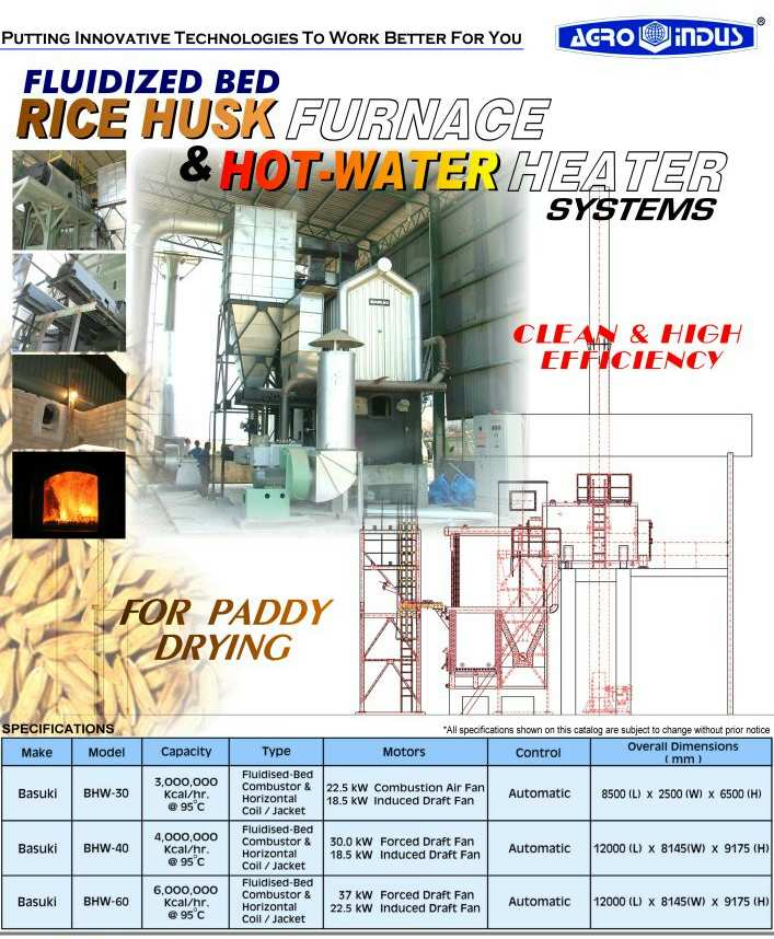 Bed Rice Husk Furnace & Hot Water Heater Systems (Кровать рисовой шелухи Печь & горячей воды системы отопления)