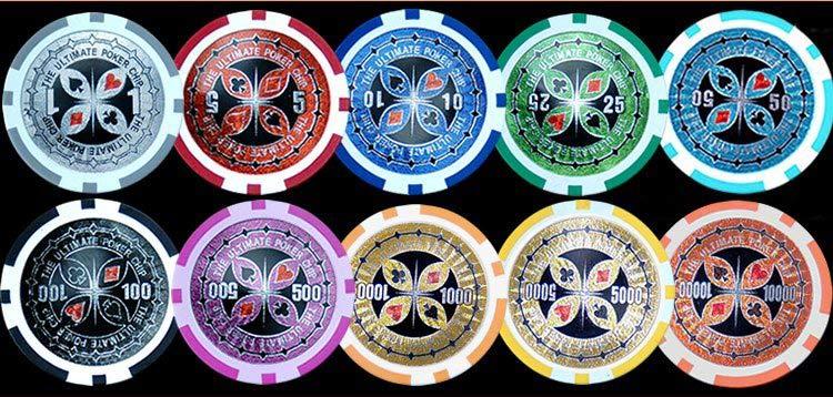 13. 5gram Clay Ultimate Laser Poker Chips (13. 5gram Clay Ultimate Лазерная Покерные фишки)