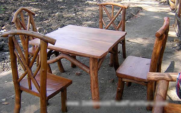 Teak Wood Log Furniture Set (Тика Дерево журнала набор мебели)