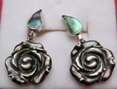 Vietnam Abalone Earrings With Silver Hook