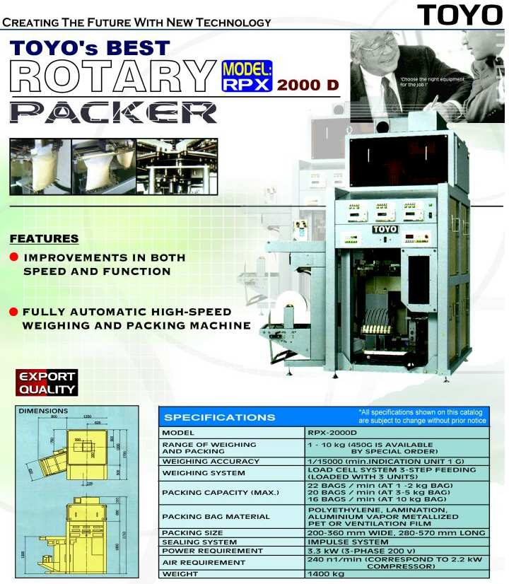 Automatic Rotary Rice Packer (Automatic Rotary Rice Packer)