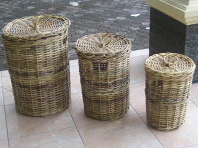 Nusantara Laundry Basket Set / 3 (Нусантара прачечной корзины Set / 3)