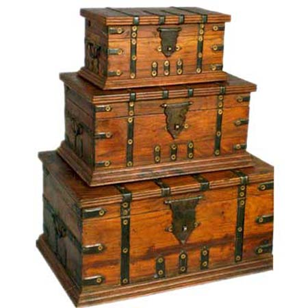 S / 3 Wooden Boxes (S / 3 Деревянные ящики)