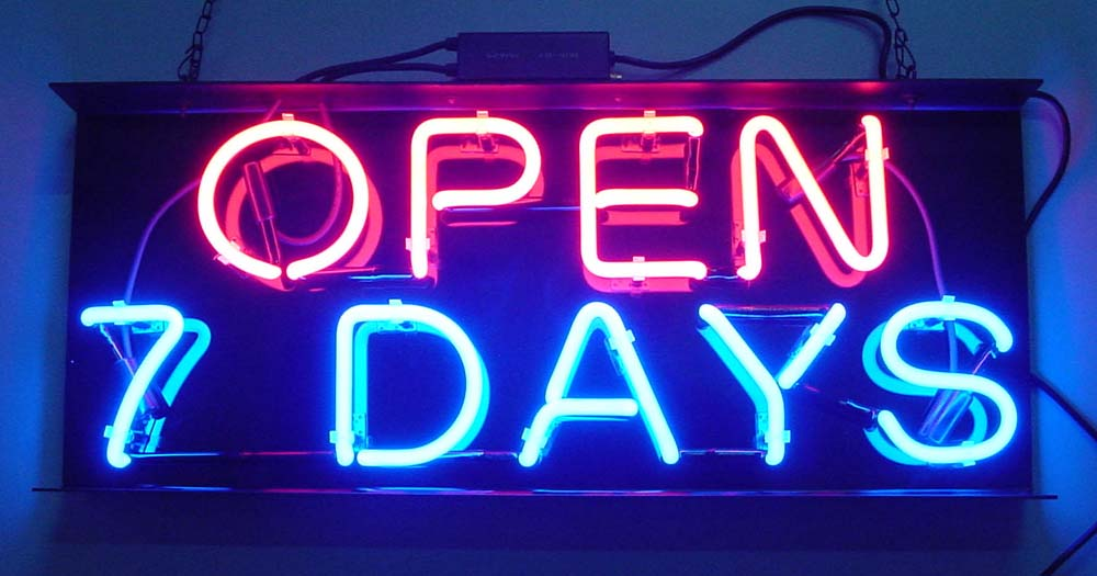 Neon Open Sign (Неон Открытое Войти)