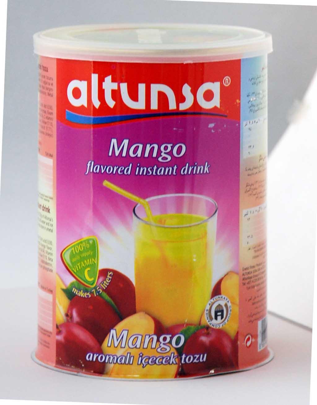 Altunsa Mango Flavoured Instant Drink (Boisson aromatisée à la mangue Altunsa instantanée)