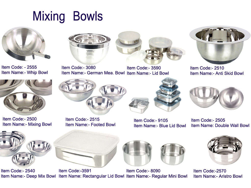 Stainless Steel Mixing Bowls (Нержавеющая сталь миски)