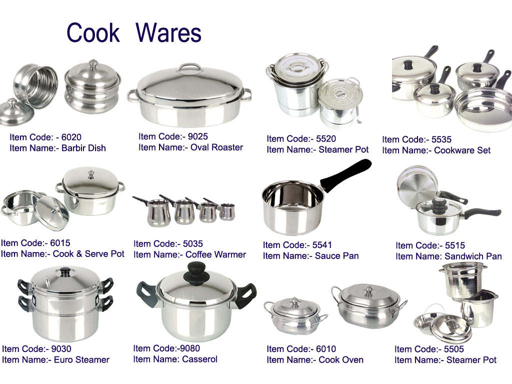 kitchen stainless steel cookware