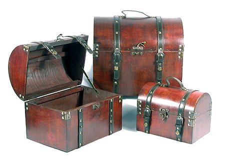 Wooden Set Of Three Boxes (Деревянный набор из трех коробках)
