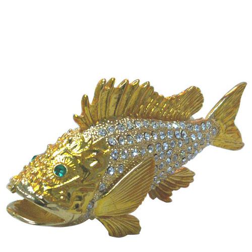 Fish Metal Jewellery Box-Artificial Crafts (Рыбы металлов ювелирные изделия Box-Искусственные ремесла)