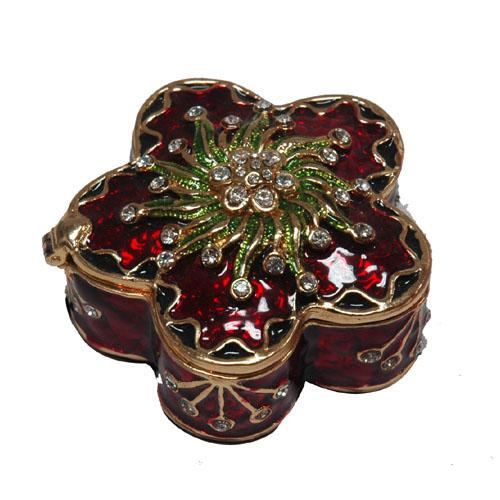Floral Metal Jewellery Box-Artificial Crafts (Цветочные металлов ювелирные изделия Box-Искусственные ремесла)