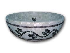 Classic Travertine Round Mosaic Vessel Bowl (Классические травертина мозаика судов круглый Bowl)