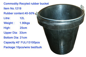 Recycled Rubber Bucket (Recycling-Gummi-Eimer)
