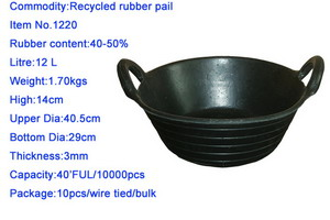 Recycled Rubber Pail (Recycling-Gummi-Eimer)