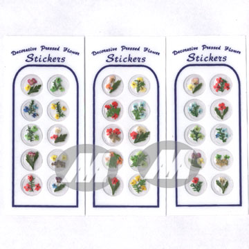 Pressed Flowers Sticker (Прессованные цветы наклейка)